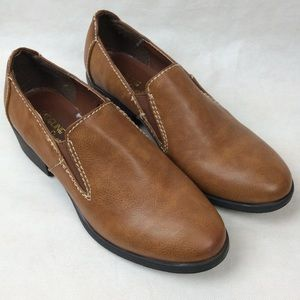 3x$15 Madeline stuart Brown loafers shoes 6.5m